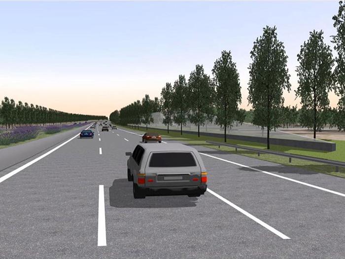 Bild 6: Planung transparente Lärmschutz mit neuer Allee, Stadt Dortmund
