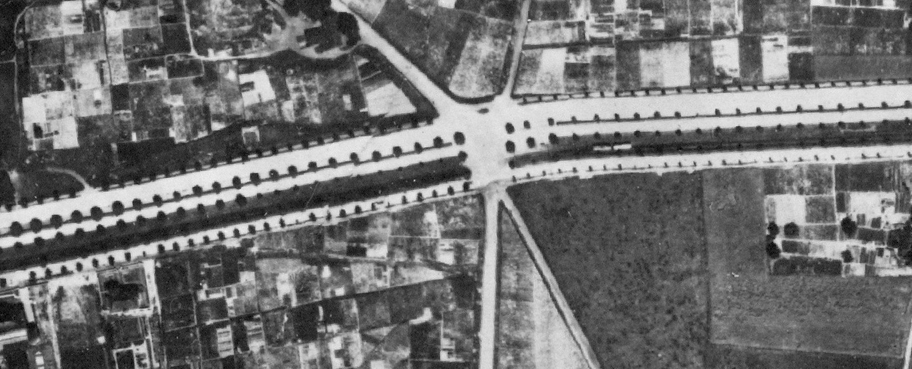 Bereich B1/Semerteichstraße als neue Stadtachse mit fünfreihiger Allee 1926